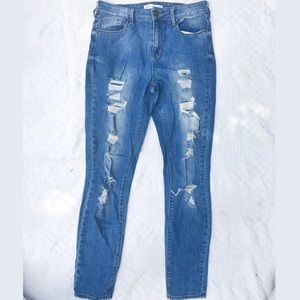 Bullhead denim ripped jeans